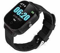 Детские телефон-часы с GPS трекером GOGPS К23 черные