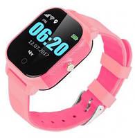 Детские телефон-часы с GPS трекером GOGPS К23 розовые
