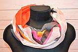 Красный шарф снуд с блестками геометрическим узором Lullaby, фото 3