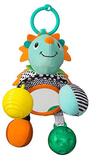 """Детская игрушка навесная с зеркалом """"Ежик"""" Infantino, 12.5 х 16.51 х 26 см"""