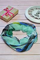 Зелёный шарф снуд с блестками геометрическим узором Lullaby, фото 1
