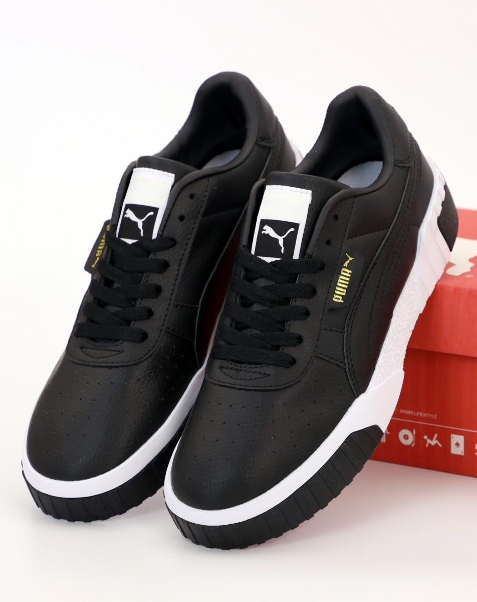 Женские кроссовки Puma Cali Black (Пума Кали черные)