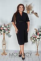 Стильное женское платье  БАТАЛ 05172,2  Черное