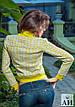 Женская курточка из неопрена в ромбик , фото 4