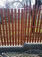 Забор штакетный металлический  МU-2000х2000/14 Паркан металевий оцинкований Євроштахет ЕСОВОХ©