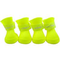 Непромокаемые резиновые сапоги для собак, желтый, резиновая обувь для собак мелких, средних, крупных пород