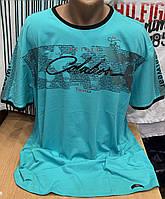 Мужская турецкая футболка большого размера мятного цвета, фото 1