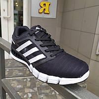 Черные летние мужские кроссовки. Система Climacool.41