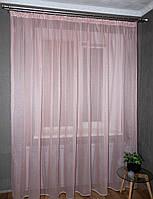 Тюль лен, цвет розовый, Турция, фото 1