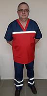 Мужская форма Скорой помощи рубашечная ткань