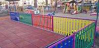 Забор штакетный металлический  МU-1000х2000/14 Паркан металевий оцинкований Євроштахет ЕСОВОХ©