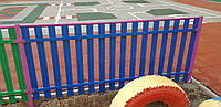 Забор штакетный металлический  МU-800х2000/14 Паркан металевий оцинкований Євроштахет ЕСОВОХ©