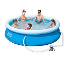 Бассейн надувной семейный Bestway 57270 круглый 305x76 см + фильтр-насос