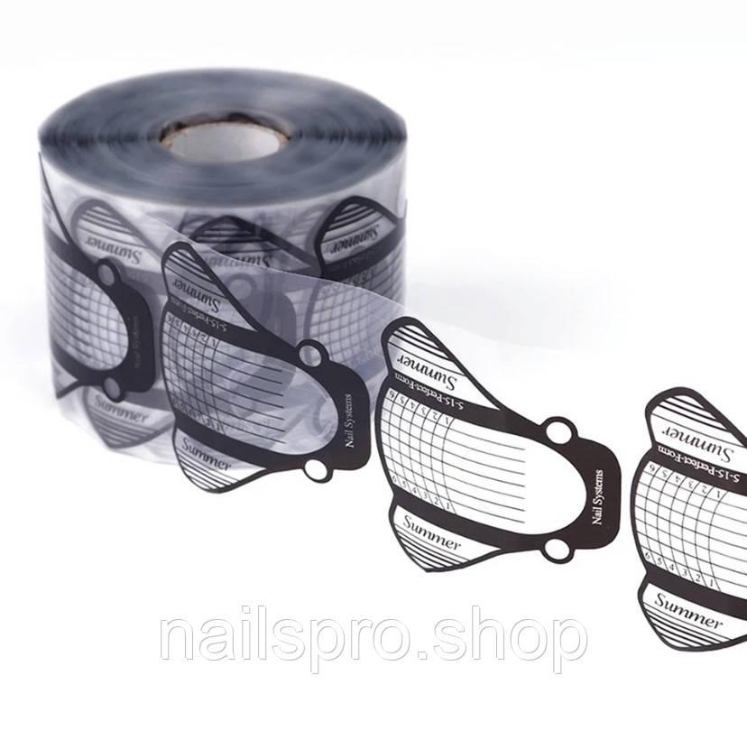 Формы для наращивания ногтей , прозрачные , рулон -500 шт.