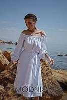 Модное женское платье с открытыми плечами 5232.1