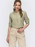 Блузка на застежке пуговицы и длинным регулируемым рукавом, фото 3