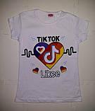 Модная футболка с принтом для девочки TikTok, фото 2