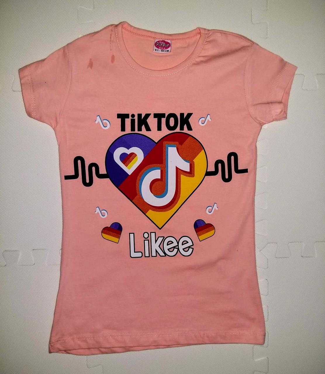 Модная футболка с принтом для девочки TikTok