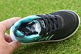 Детские кроссовки Nike сетка черный бирюза на девочку р26-30, копия, фото 4