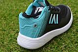 Детские кроссовки Nike сетка черный бирюза на девочку р26-30, копия, фото 7