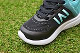 Детские кроссовки Nike сетка черный бирюза на девочку р26-30, копия, фото 5