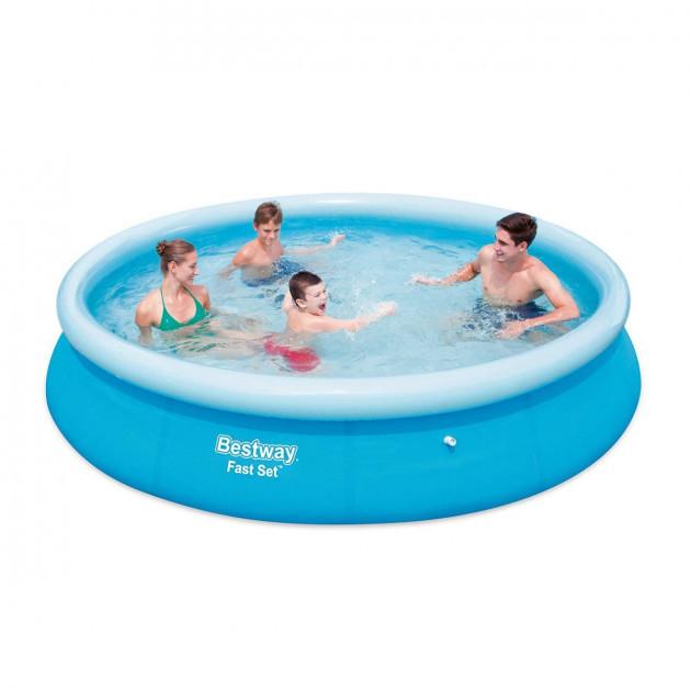 Надувной бассейн Bestway 57273 круглый 366х76 см, семейный бассейн