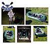 Надувная лодка Ладья ЛТ-220-ДСТ с реечным настилом и ТРАНЦЕМ полуторка двухместная ПВХ 850, фото 6