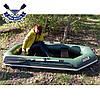 Човен надувний човен ЛТ-250А-СБТ з брызгоотбойником ТРАНЦЕМ і слань-килимком двомісна, фото 4