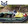 Надувная лодка Ладья ЛТ-250А-ЕСБТ с брызгоотбойником,ТРАНЦЕМ, слань-ковриком и сдвиж. сид., фото 2