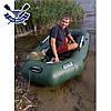 Надувная лодка Ладья ЛТ-240ЕВТ с жестким дном слань-книжка и ТРАНЦЕМ сдвижн. сиденье, баллоны 37, фото 2