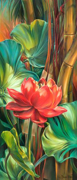 Алмазная мозаика Аленький цветочек 30x70см DM-097 Полная зашивка. Набор алмазной вышивки