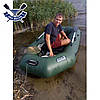 Надувная лодка Ладья ЛТ-250-ЕВТ с жестким дном слань-книжка ТРАНЦЕМ двухместная, баллоны 37, фото 2