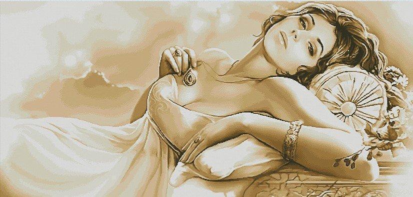 Алмазная мозаика Женские мечты 60x30см DM-142 Полная зашивка. Набор алмазной вышивки