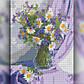 Алмазная мозаика Ваза с ромашками 30x40 TWD10036 The Wortex Diamonds Полная зашивка, фото 2