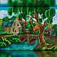 Алмазная мозаика Дом у ручья 30x40 TWD30029 The Wortex Diamonds Полная зашивка, фото 2