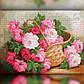 Алмазная мозаика Цветы в корзине 30x40 TWD10020 The Wortex Diamonds Полная зашивка, фото 2