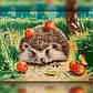 Алмазная мозаика Ёжик с яблоками 30x40 TWD20034 The Wortex Diamonds Полная зашивка, фото 2