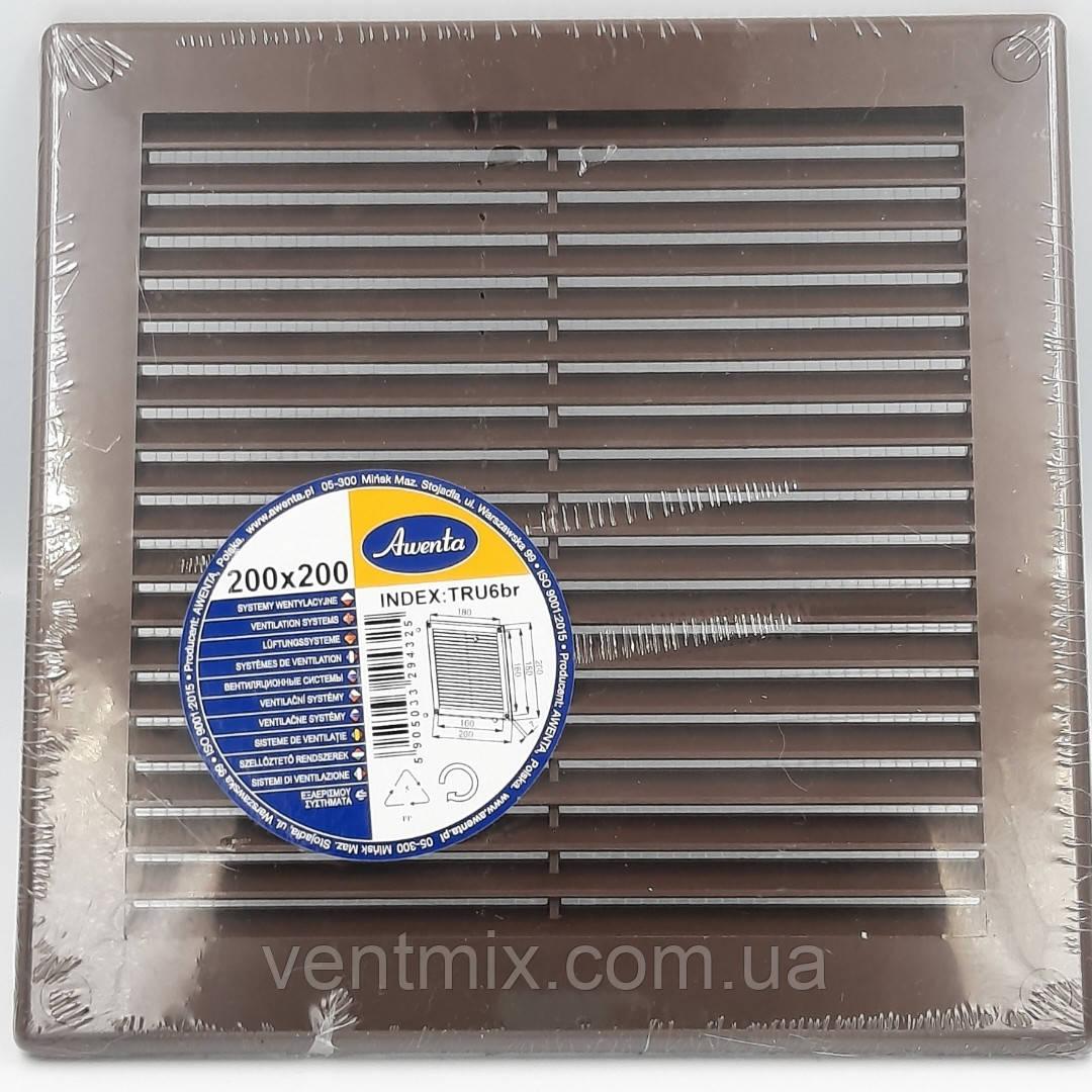 Решетка вентиляционная 200x200 мм (коричневая)