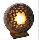 Соляной светильник круглый Переплет сердец, фото 4