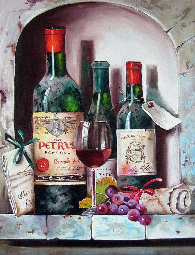 Алмазная мозаика Старинные вина DM-239 40x50см Полная зашивка. Набор алмазной вышивки