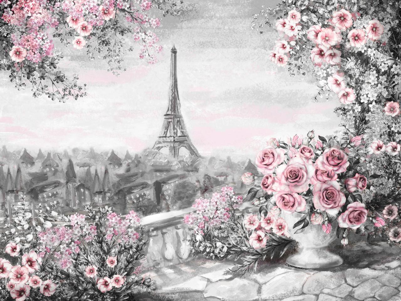 Алмазная мозаика Красота парижа 40x30см DM-148 Полная зашивка. Набор алмазной вышивки