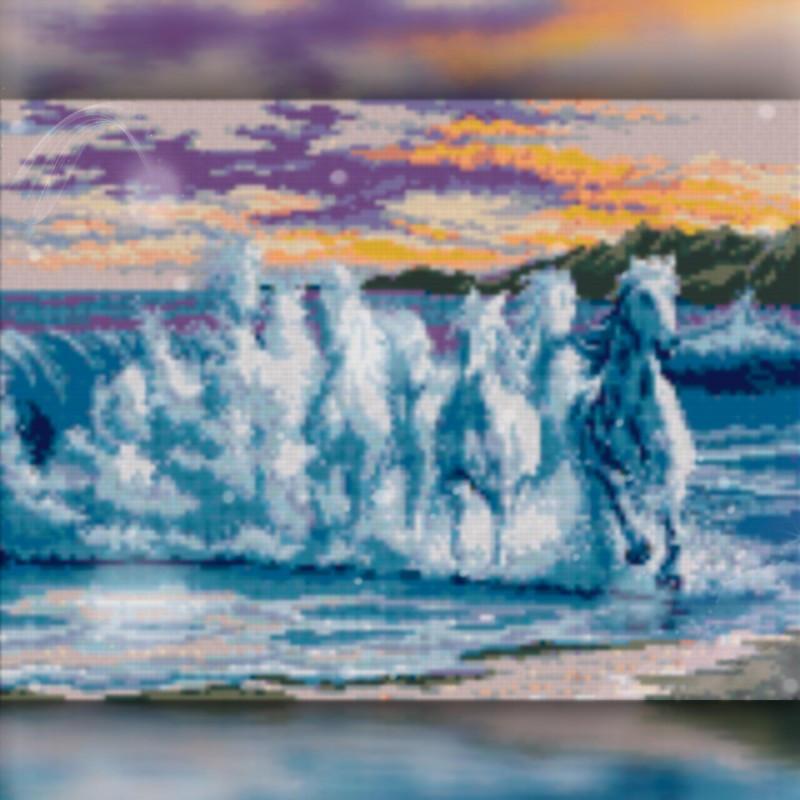 Алмазная мозаика Бег лошади 30x40 TWD20027 The Wortex Diamonds Полная зашивка