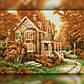 Алмазная мозаика Осенний домик 30x40 TWD30020 The Wortex Diamonds Полная зашивка, фото 2