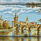 Алмазная мозаика Мост через реку 30x40 TWD30036 The Wortex Diamonds Полная зашивка, фото 2
