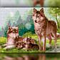 Алмазная мозаика Семья волков 30x40 TWD20004 The Wortex Diamonds Полная зашивка, фото 2