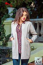 Женское пальто из неопрена в ромбик, фото 3