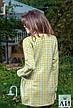 Женское пальто из неопрена в ромбик, фото 4