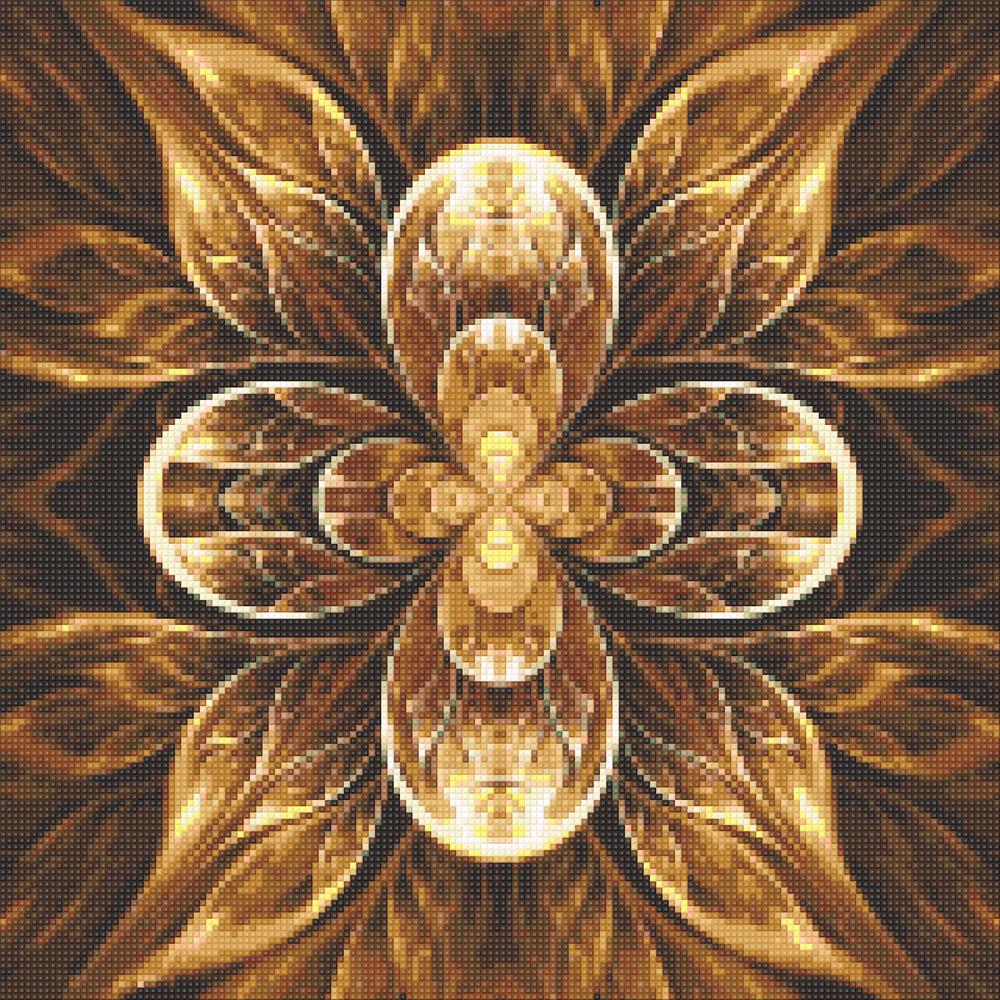 Алмазная мозаика Мандала - цветок жизни DM-326 40х40см Полная зашивка. Набор алмазной вышивки цветы