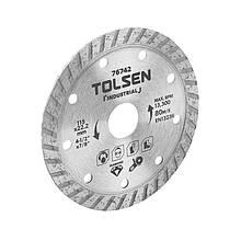 Диск алмазный турбо 125×22.2 мм Tolsen 76743