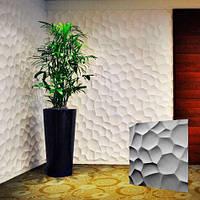 """Декоративна 3д панель """"Черепашки"""" з высоковачественного гіпсу для обробки стін 50x50"""